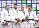 Or Sasson (ISR), Iurii Krakovetskii (KGZ), Boltoboy Baltaev (UZB), Bekmurod Oltiboev (UZB) - Grand Prix Tashkent (2017, UZB) - © IJF Media Team, International Judo Federation