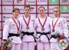 Larisa Florian (AZE), Reka Pupp (HUN), Anja Stangar (SLO), Charline Van Snick (BEL) - Grand Slam Baku (2017, AZE) - © IJF Media Team, International Judo Federation