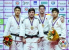 Beka Gviniashvili (GEO), DongHan Gwak (KOR), Kenta Nagasawa (JPN), Nikoloz Sherazadishvili (ESP) - IJF World Masters St. Petersburg (2017, RUS) - © IJF Media Team, International Judo Federation