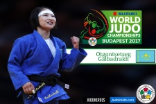 Otgontsetseg Galbadrakh (KAZ) - World Championships Budapest (2017, HUN) - © IJF Media Team, International Judo Federation