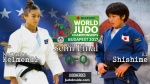 Majlinda Kelmendi (KOS), Ai Shishime (JPN) - World Championships Budapest (2017, HUN) - © IJF Media Team, International Judo Federation