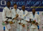 Vlad Visan (ROU), Terence Kouamba (GAB), Willy Marvel Ngouozeu Moyo (CMR), Armel Totoum Bogne (CMR) - African Open Yaounde (2018, CMR) - © African Judo Union