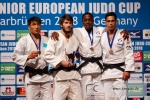 Gusman Kyrgyzbayev (KAZ), Tornike Nagliashvili (GEO), Daniel Jean (FRA), Kevin Azema (FRA) - European Cup Saarbrucken (2018, GER) - © Klaus Müller, Watch: https://km-pics.de/
