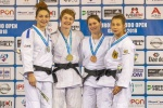 Automne Pavia (FRA), Josie Steele (GBR), Dewy Karthaus (NED), Sappho Coban (GER) - European Open Glasgow (2018, SCO) - © Mike Varey - Elitepix, British Judo Association