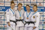 Josie Steele (GBR), Automne Pavia (FRA), Dewy Karthaus (NED), Sappho Coban (GER) - European Open Glasgow (2018, SCO) - © Mike Varey - Elitepix, British Judo Association