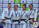 Timna Nelson Levy (ISR), Kaja Kajzer (SLO), Sarah Harachi (FRA), Miryam Roper (PAN) - Grand Prix Agadir (2018, MAR) - © IJF Media Team, International Judo Federation