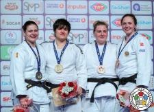 Sebile Akbulut (TUR), Larisa Ceric (BIH), Anna Gushchina (RUS), Galyna Tarasova (UKR) - Grand Prix Antalya (2018, TUR) - © IJF Media Team, International Judo Federation