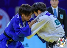Yu Jeong Kang (KOR), Ami Kondo (JPN) - Grand Prix Hohhot (2018, CHN) - © IJF Media Team, International Judo Federation