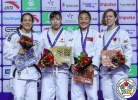 Aimi Nouchi (JPN), Gili Sharir (ISR), Catherine Beauchemin-Pinard (CAN), Gankhaich Bold (MGL) - Grand Prix Hohhot (2018, CHN) - © IJF Media Team, International Judo Federation