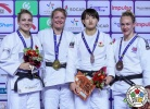 Sanne Van Dijke (NED), Kelita Zupancic (CAN), Chizuru Arai (JPN), Gemma Howell (GBR) - Grand Prix Hohhot (2018, CHN) - © IJF Media Team, International Judo Federation