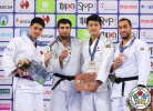 Niyaz Ilyasov (RUS), Kyle Reyes (CAN), Kentaro Iida (JPN), Lasha Taveluri (GEO) - Grand Prix Zagreb (2018, CRO) - © IJF Media Team, International Judo Federation