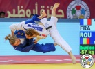 Automne Pavia (FRA), Corina Stefan (ROU) - Grand Slam Abu Dhabi (2018, UAE) - © IJF Media Team, International Judo Federation