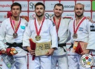 Vazha Margvelashvili (GEO), Yerlan Serikzhanov (KAZ), Dzmitry Shershan (BLR), Baruch Shmailov (ISR) - Grand Slam Abu Dhabi (2018, UAE) - © IJF Media Team, International Judo Federation