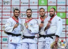 Peter Paltchik (ISR), Elmar Gasimov (AZE), Jevgenijs Borodavko (LAT), Karl-Richard Frey (GER) - Grand Slam Abu Dhabi (2018, UAE) - © IJF Media Team, International Judo Federation