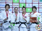 Telma Monteiro (POR), Chen-Ling Lien (TPE), Sumiya Dorjsuren (MGL), Momo Tamaoki (JPN) - Grand Slam Ekaterinburg (2018, RUS) - © IJF Media Team, International Judo Federation