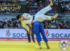 Kentaro Iida (JPN), Shady El Nahas (CAN) - Grand Slam Osaka (2018, JPN) - © IJF Media Team, International Judo Federation