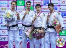 Rustam Orujov (AZE), Arthur Margelidon (CAN), Chang-Rim An (KOR), Lasha Shavdatuashvili (GEO) - IJF World Masters Guangzhou (2018, CHN) - © IJF Media Team, International Judo Federation