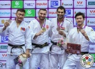 Varlam Liparteliani (GEO), Otgonbaatar Lkhagvasuren (MGL), Ramadan Darwish (EGY), Kentaro Iida (JPN) - IJF World Masters Guangzhou (2018, CHN) - © IJF Media Team, International Judo Federation