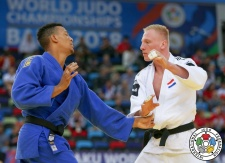 Frank De Wit (NED), Medickson Del Orbe (DOM) - World Championships Baku (2018, AZE) - © IJF Media Team, International Judo Federation
