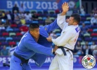 Navruz Karimzod (TJK), Juan Postigos (PER) - World Championships Baku (2018, AZE) - © IJF Media Team, International Judo Federation