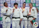Hikaru Kodama (JPN), Beatriz Souza (BRA), Laura Fuseau (FRA), Renee Lucht (GER) - World U21 Championships Nassau (2018, BAH) - © IJF Media Team, International Judo Federation