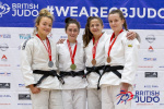 Bekky Livesey (GBR), Mollie Game (GBR), Verity Stephens (GBR), Gwenllian Northall (WAL) - British Championships Sheffield (2019, GBR) - © British Judo Association