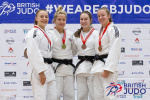 Kelly Petersen-Pollard (GBR), Chloe Nunn (GBR), Annie Boby (GBR), Holly Bentham (GBR) - British Championships Sheffield (2019, GBR) - © British Judo Association