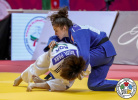 Da Sol Park (KOR), Estrella Lopez Sheriff (ESP) - Grand Slam Abu Dhabi (2019, UAE) - © IJF Marina Mayorova, International Judo Federation